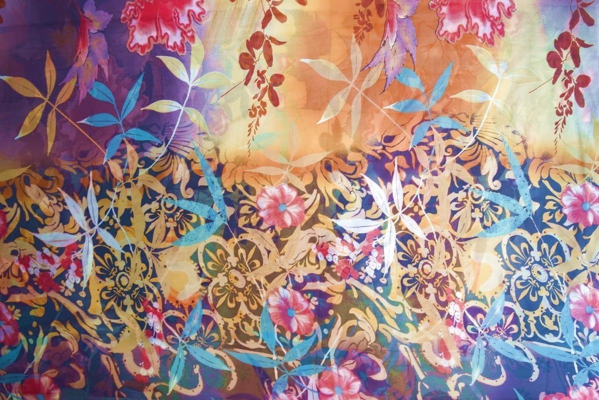GEORGETTE PRINTED fabric for Kurti, Saree, Salwar, Dupatta GF054 2