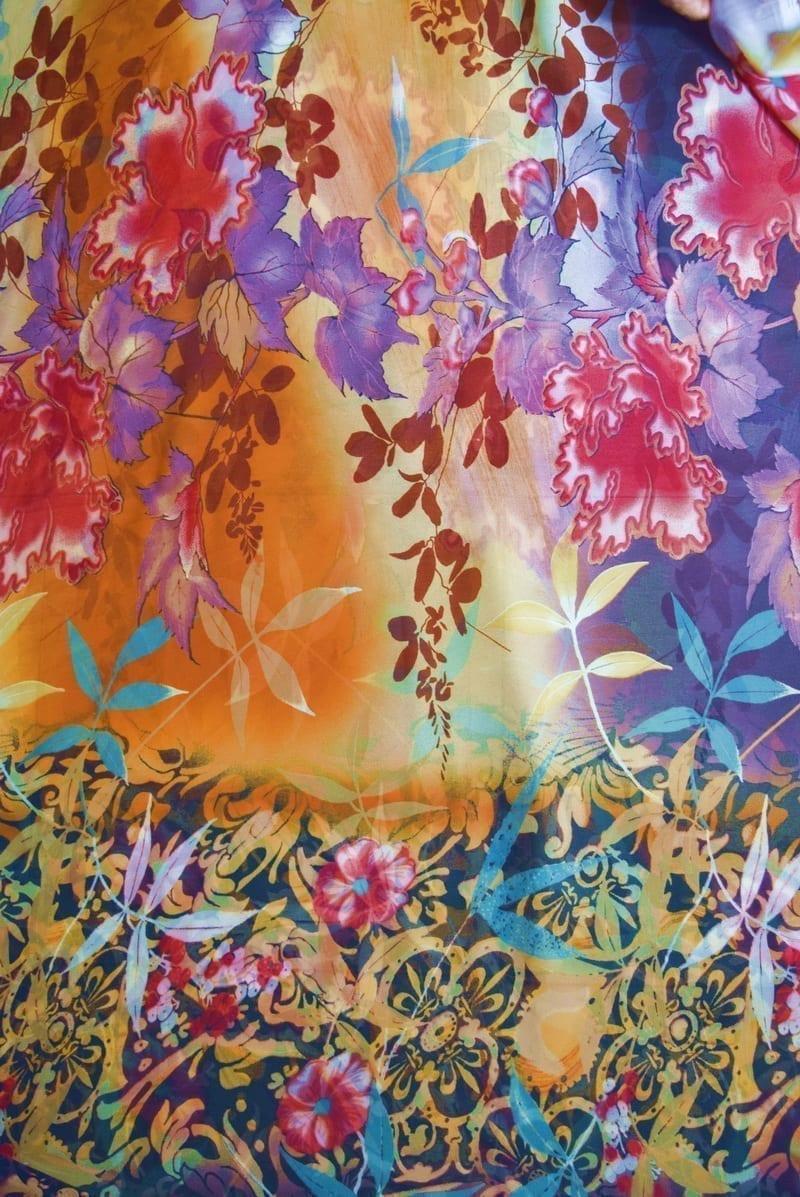GEORGETTE PRINTED fabric for Kurti, Saree, Salwar, Dupatta GF054 3