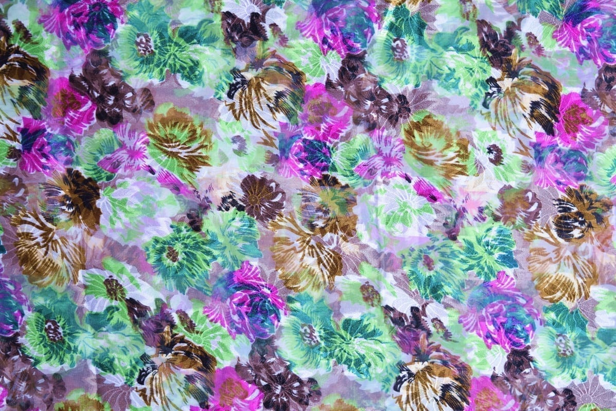GEORGETTE PRINTED fabric for Kurti, Saree, Salwar, Dupatta GF056 2