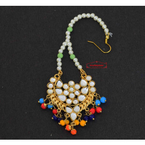 Kundan Work Traditional Punjabi Jewellery Maang Tikka J0170