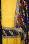 M/C Embroidered PHULKARI Cotton Salwar kameez suit Faux Chiffon Dupatta F0699