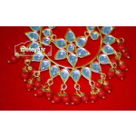 Kundan Work Big Size Traditional Punjabi Jewellery Maang Tikka J0164