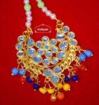 Kundan Work Traditional Punjabi Jewellery Maang Tikka J0170
