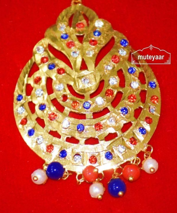 Jadau Cut Jaali Work Traditional Punjabi Jewellery Maang Tikka J0171
