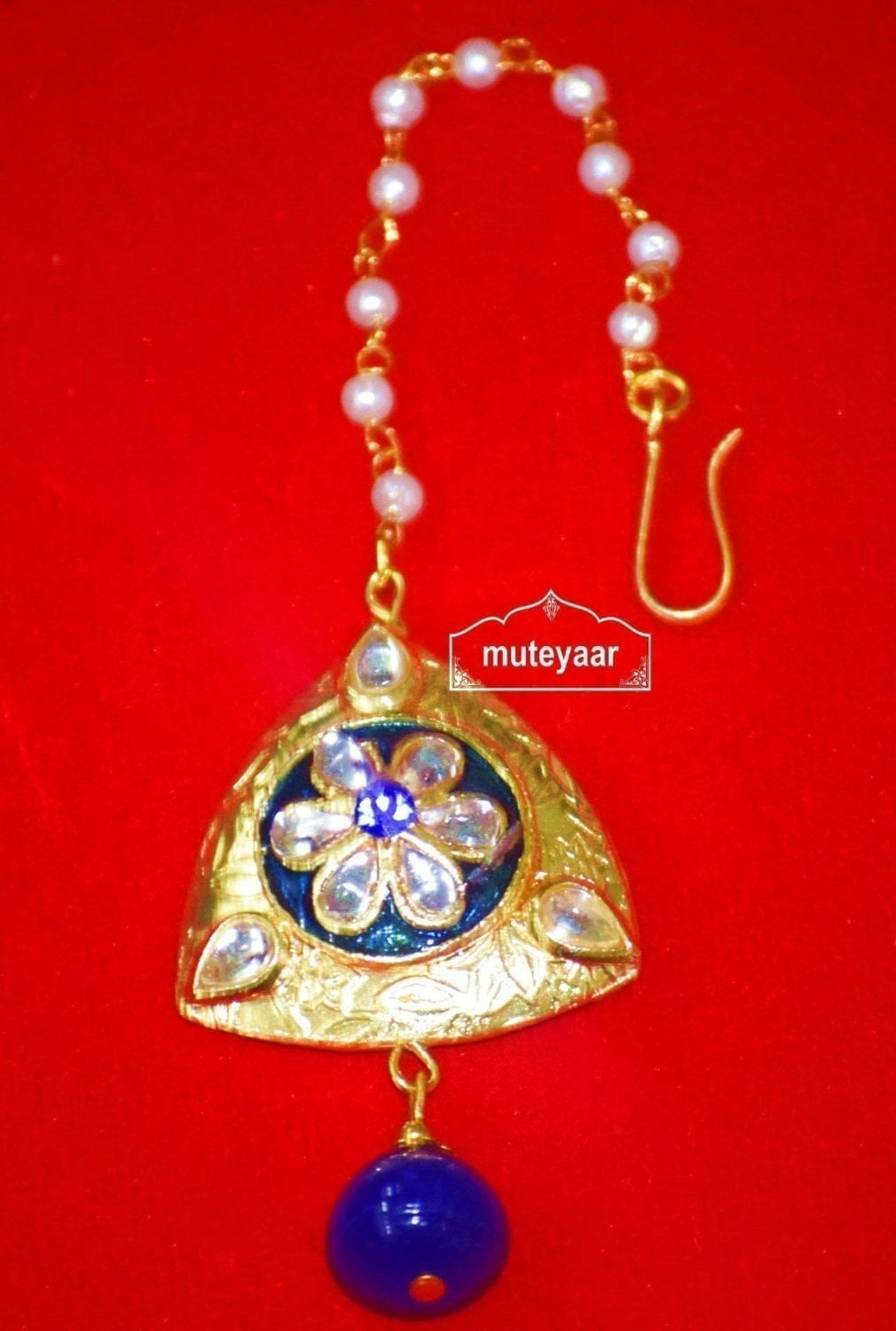 Designer Work Traditional Punjabi Jewellery Maang Tikka J0173 1