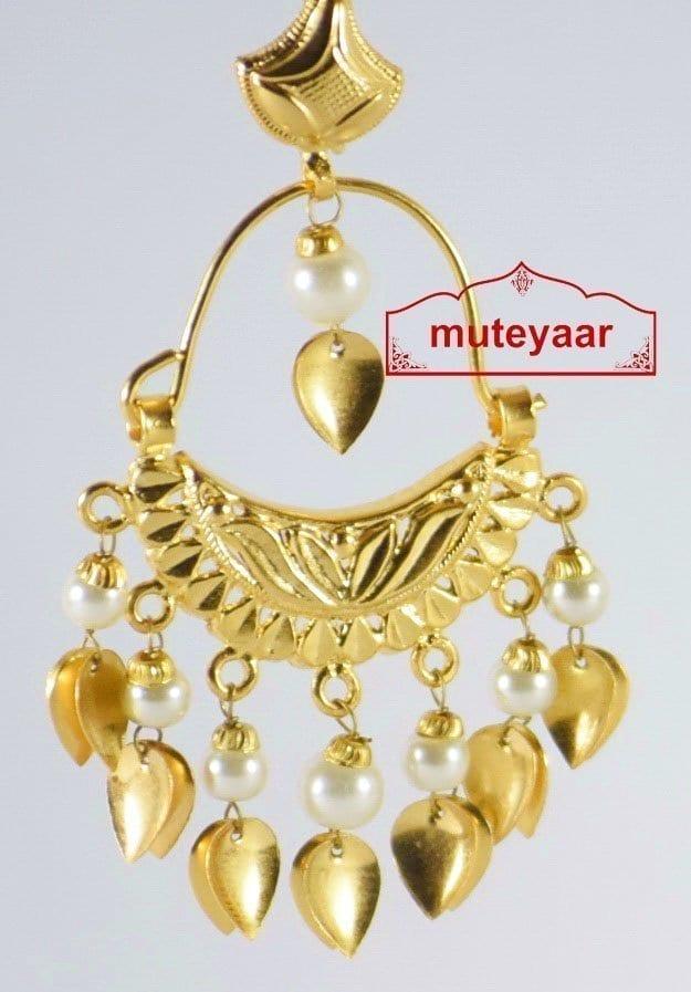 Hand Made Gold Plated Traditional Punjabi Jewellery Earrings Jhumki J0190 2