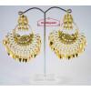 Hand Made Gold Plated Morni Design Traditional Punjabi Earrings Jhumka J0200