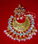 Kundan Beads Gold Polish Traditional Punjabi Jewellery Earrings Jhumka J0302