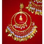 Hand Made Gold Plated Traditional Punjabi Jewellery Earrings Tikka set J0303