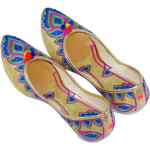 Multicolour Embroidered Desi Punjabi Jutti Party wear Belly Shoes PJ9774