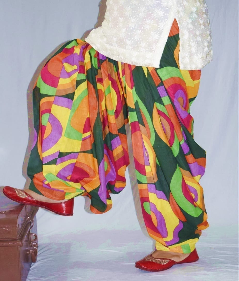 Limited Edition Printed 100%  Pure Cotton Full Patiala Salwar PPS185 1