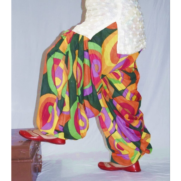 Limited Edition Printed 100%  Pure Cotton Full Patiala Salwar PPS185