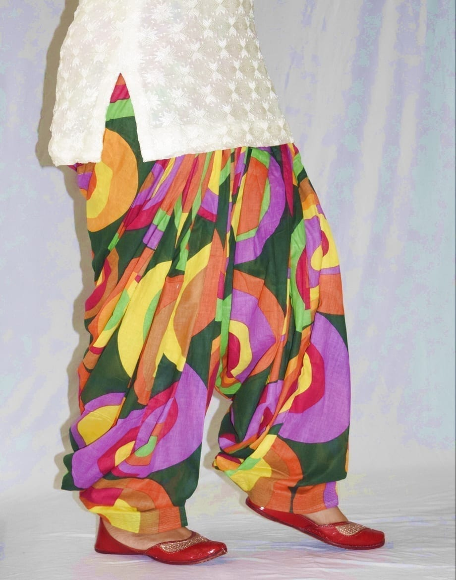 Limited Edition Printed 100%  Pure Cotton Full Patiala Salwar PPS185 3