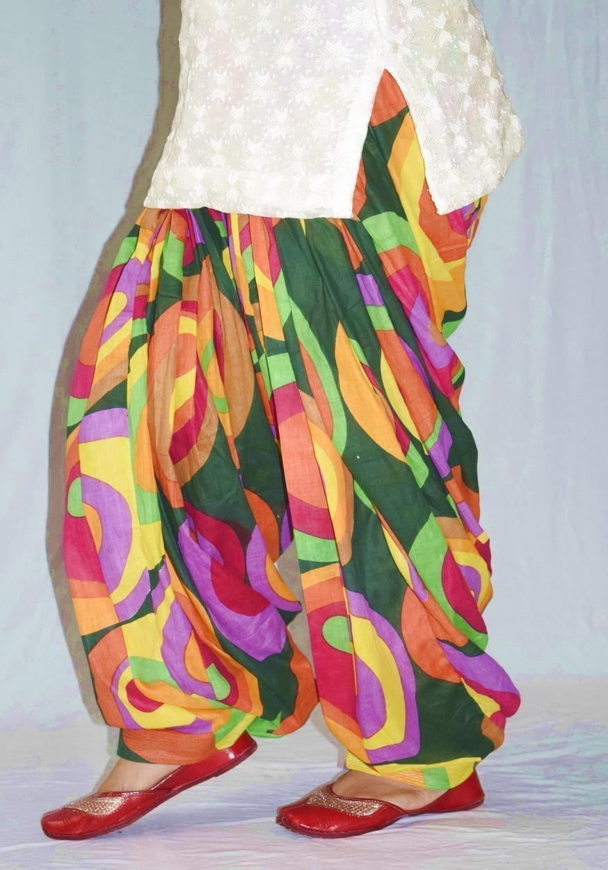 Limited Edition Printed 100%  Pure Cotton Full Patiala Salwar PPS185 4