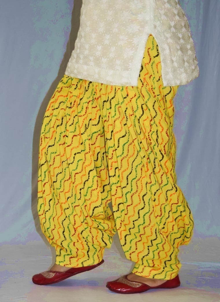 Limited Edition Printed 100%  Pure Cotton Full Patiala Salwar PPS193 3