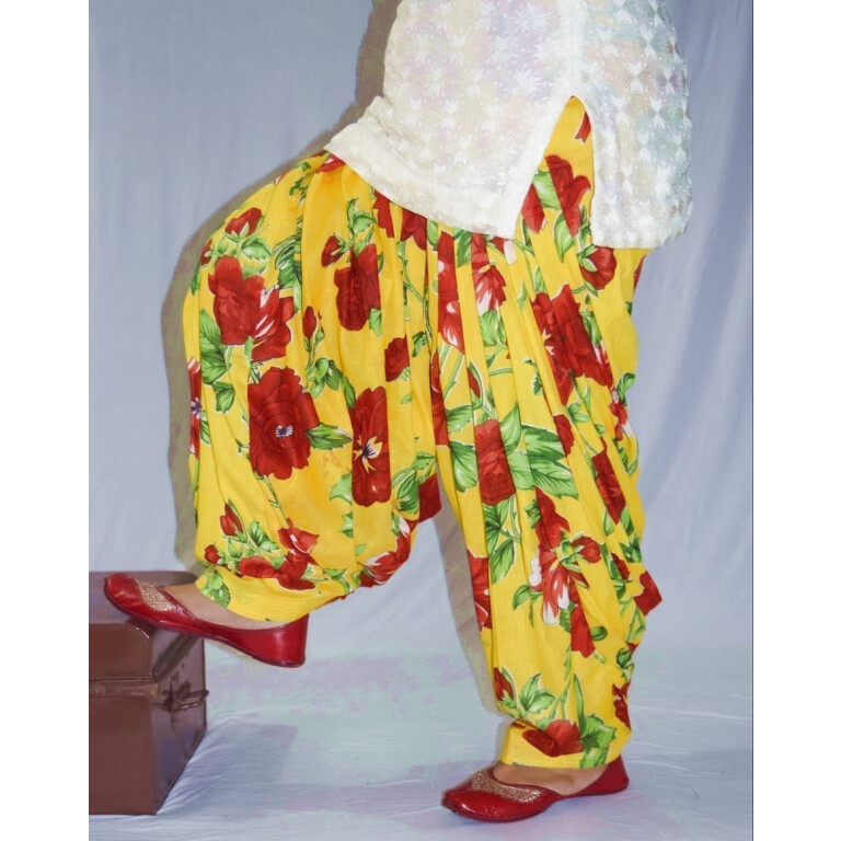 Limited Edition Printed 100%  Pure Cotton Full Patiala Salwar PPS195