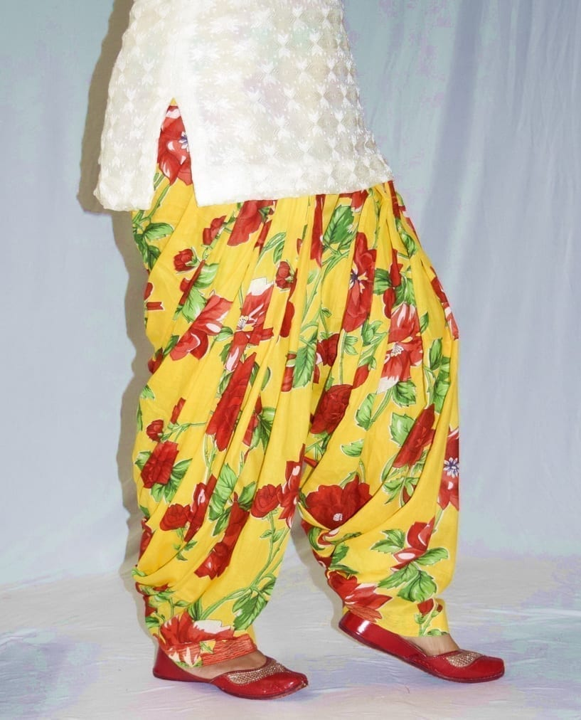 Limited Edition Printed 100%  Pure Cotton Full Patiala Salwar PPS195 3