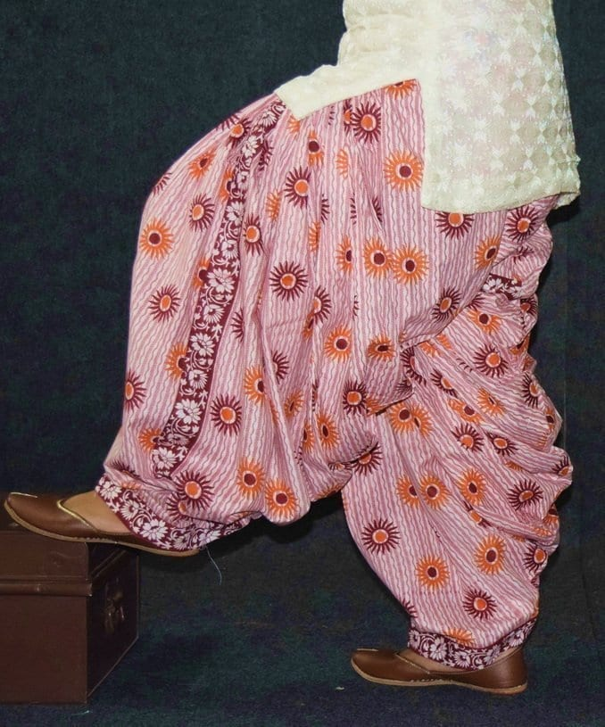 Limited Edition Printed 100%  Pure Cotton Full Patiala Salwar PPS208 2