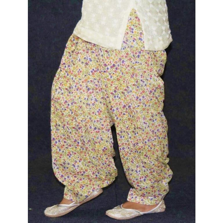 Limited Edition Printed 100%  Pure Cotton Full Patiala Salwar PPS209