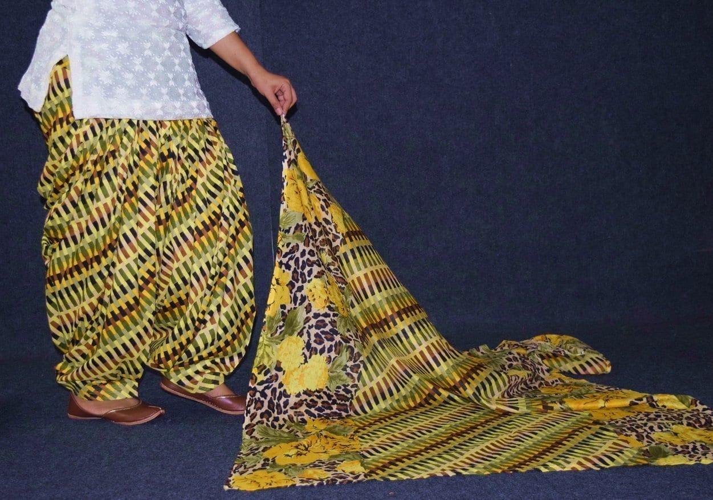 100% Pure Cotton FULL Patiala Salwar + matching cotton printed dupatta PSD174 2