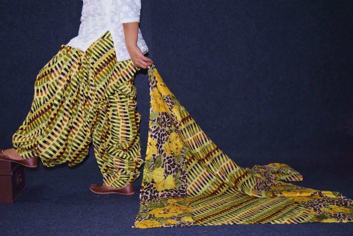 100% Pure Cotton FULL Patiala Salwar + matching cotton printed dupatta PSD174 3