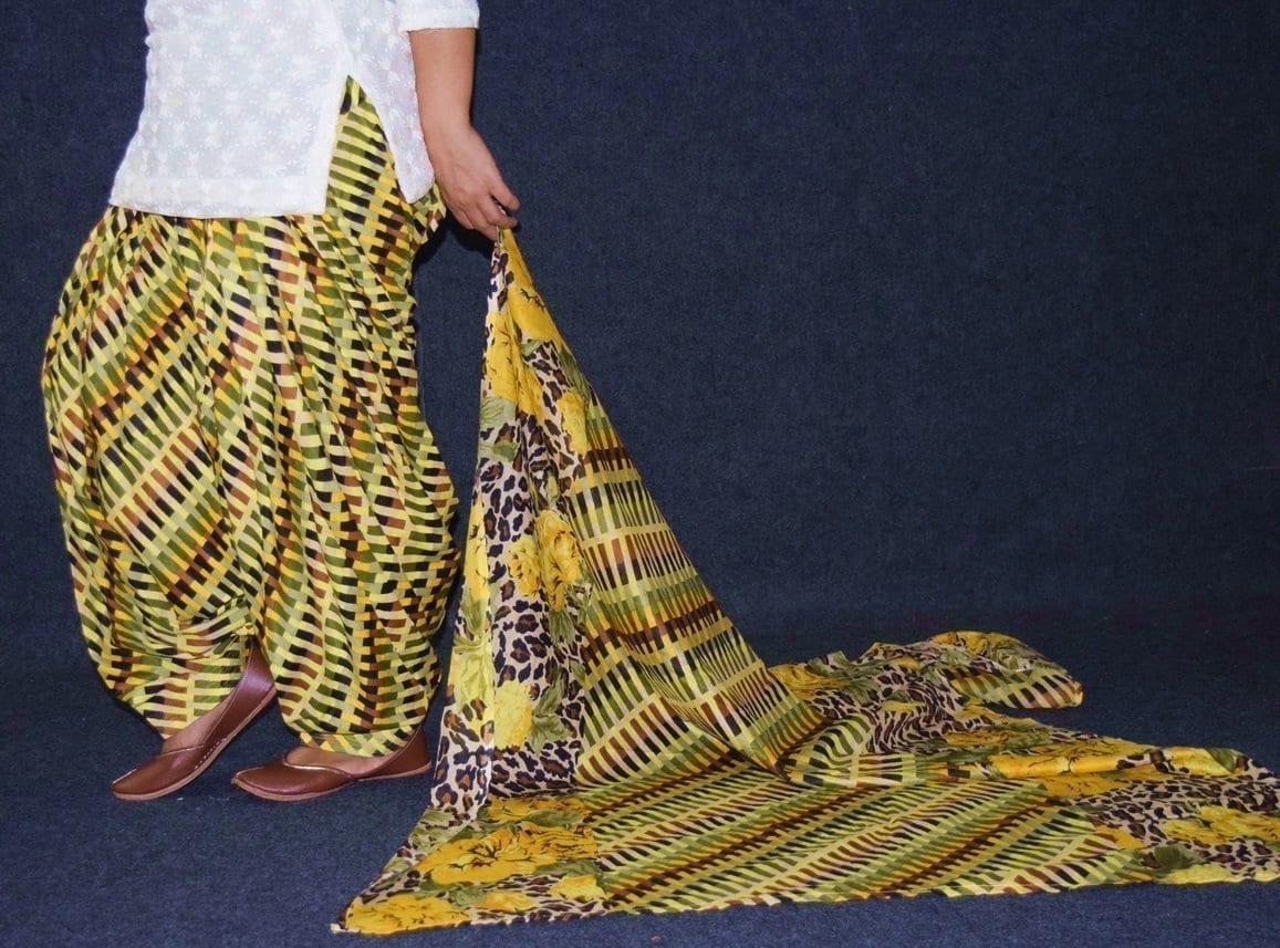 100% Pure Cotton FULL Patiala Salwar + matching cotton printed dupatta PSD174 4