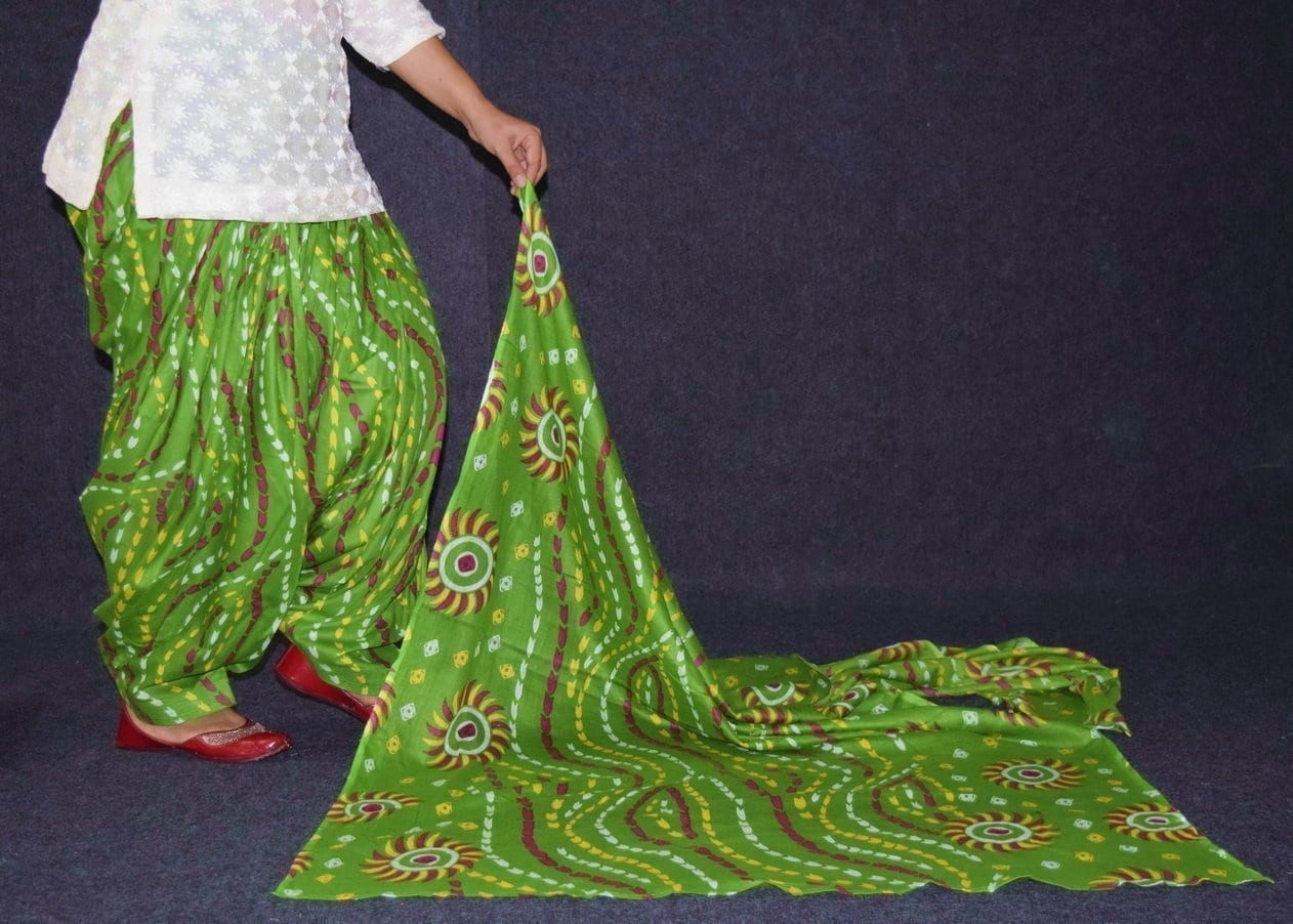 100% Pure Cotton FULL Patiala Salwar + matching cotton printed dupatta PSD175 3