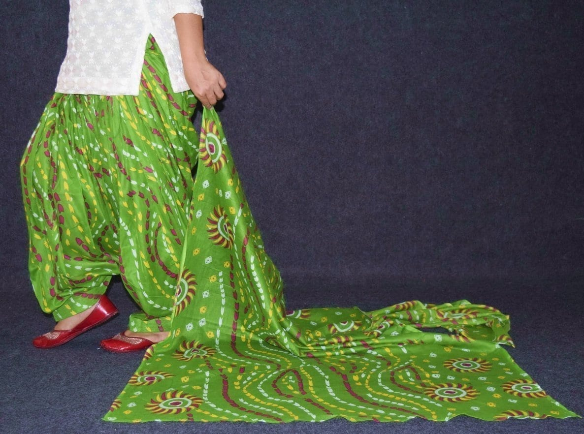 100% Pure Cotton FULL Patiala Salwar + matching cotton printed dupatta PSD175 4