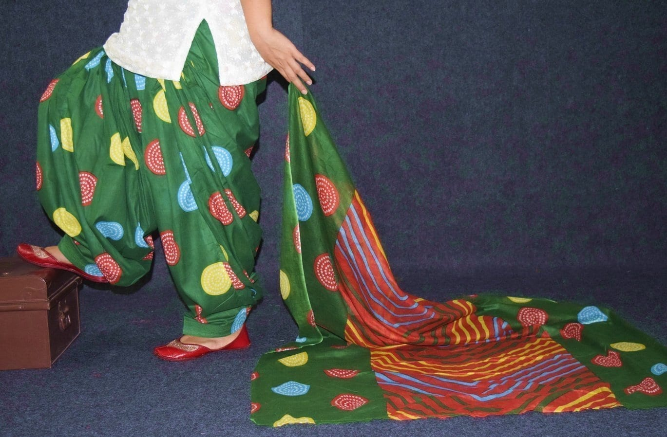 100% Pure Cotton FULL Patiala Salwar + matching cotton printed dupatta PSD178 1
