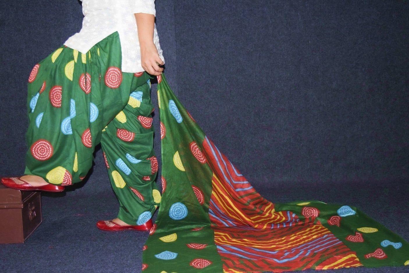 100% Pure Cotton FULL Patiala Salwar + matching cotton printed dupatta PSD178 2