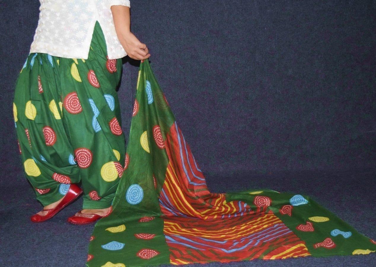 100% Pure Cotton FULL Patiala Salwar + matching cotton printed dupatta PSD178 4