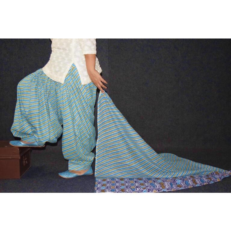 100% Pure Cotton FULL Patiala Salwar + matching cotton printed dupatta PSD180