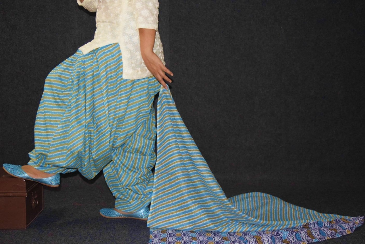 100% Pure Cotton FULL Patiala Salwar + matching cotton printed dupatta PSD180 2