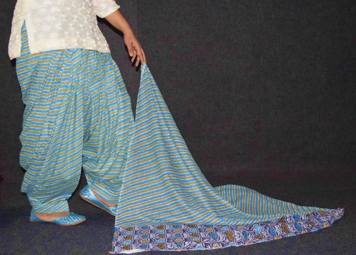 100% Pure Cotton FULL Patiala Salwar + matching cotton printed dupatta PSD180 3