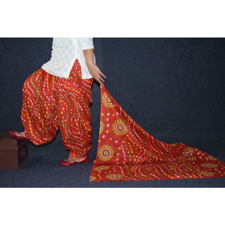 100% Pure Cotton FULL Patiala Salwar + matching cotton printed dupatta PSD184