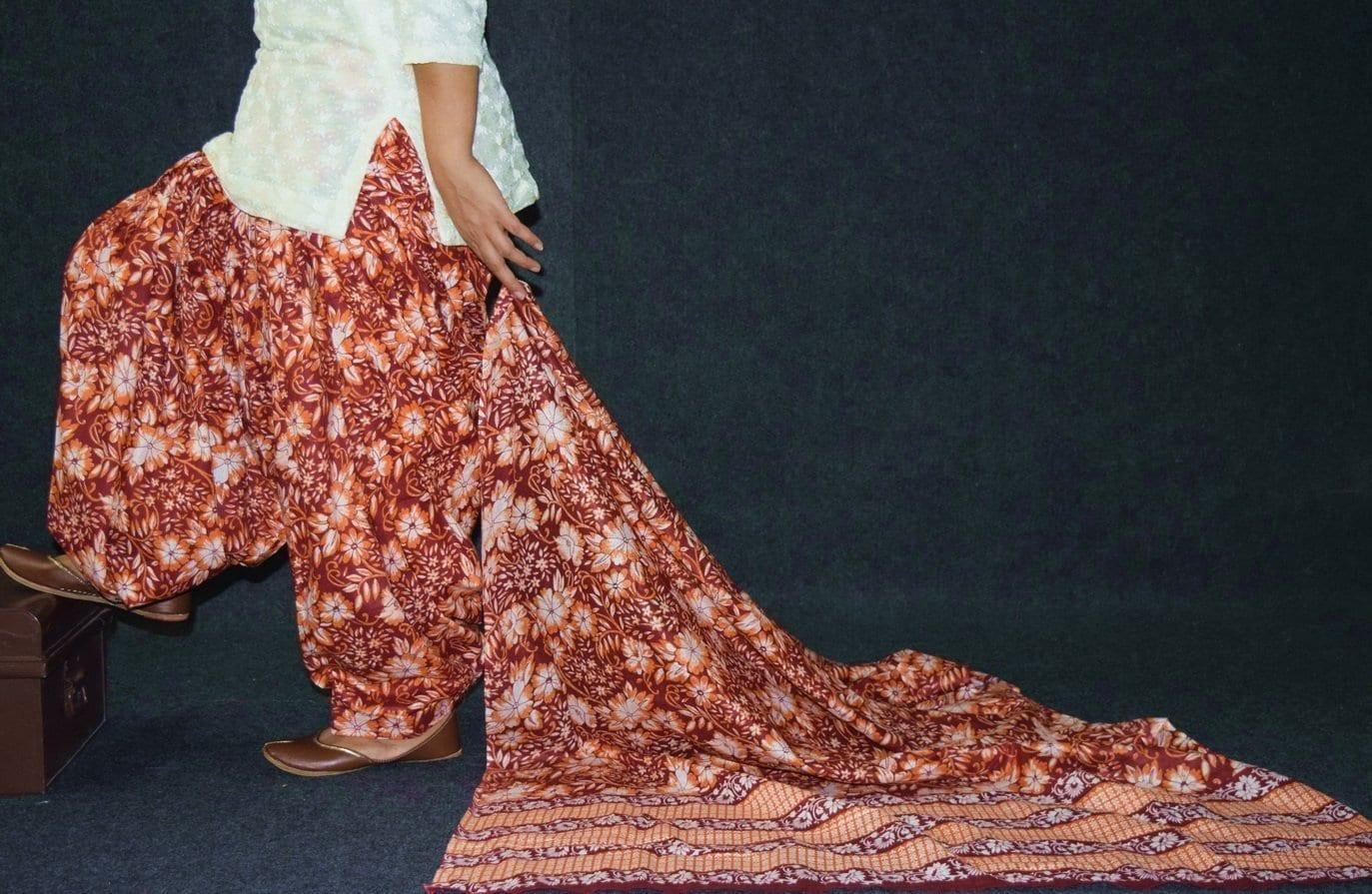 100% Pure Cotton FULL Patiala Salwar + matching cotton printed dupatta PSD185