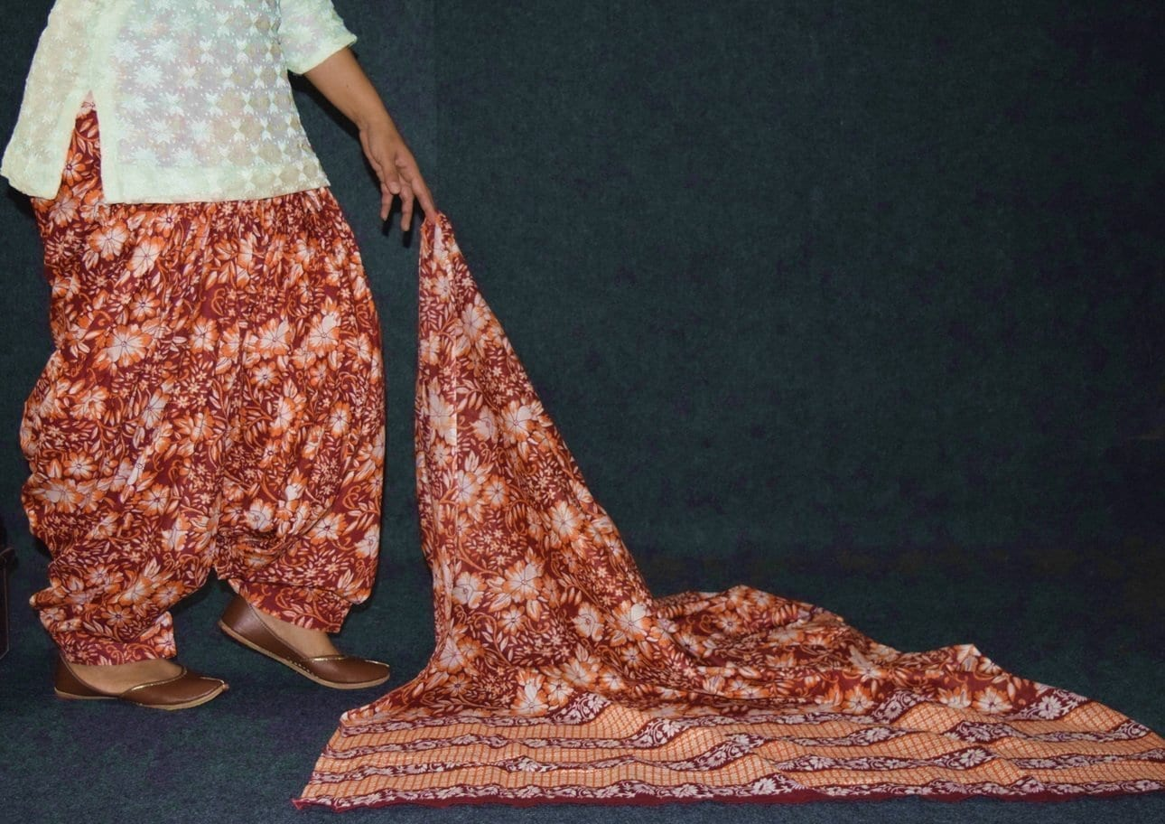 100% Pure Cotton FULL Patiala Salwar + matching cotton printed dupatta PSD185 3