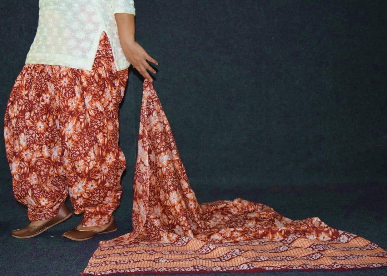 100% Pure Cotton FULL Patiala Salwar + matching cotton printed dupatta PSD185 4