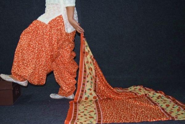 100% Pure Cotton FULL Patiala Salwar + matching cotton printed dupatta PSD187