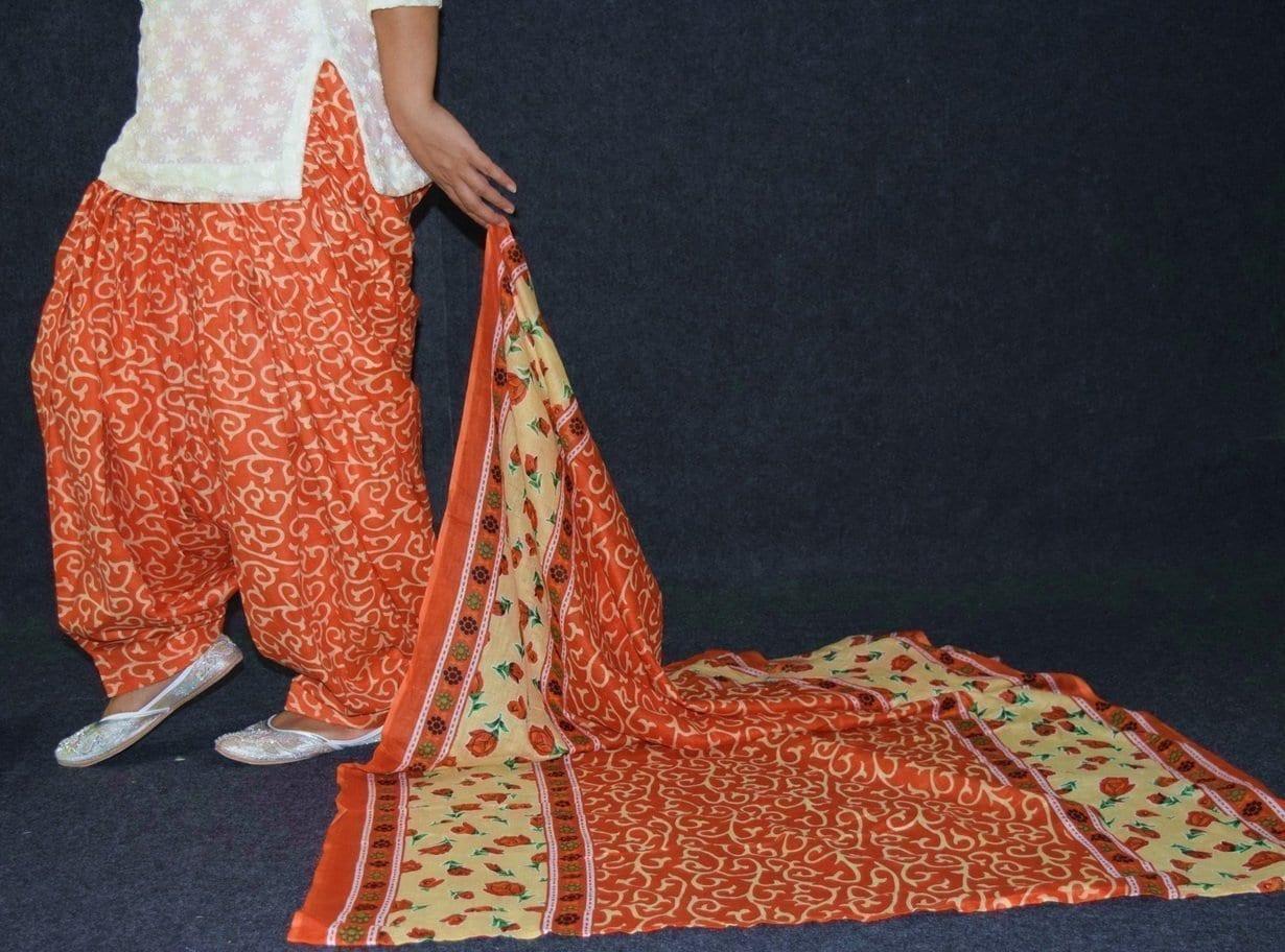 100% Pure Cotton FULL Patiala Salwar + matching cotton printed dupatta PSD187 3