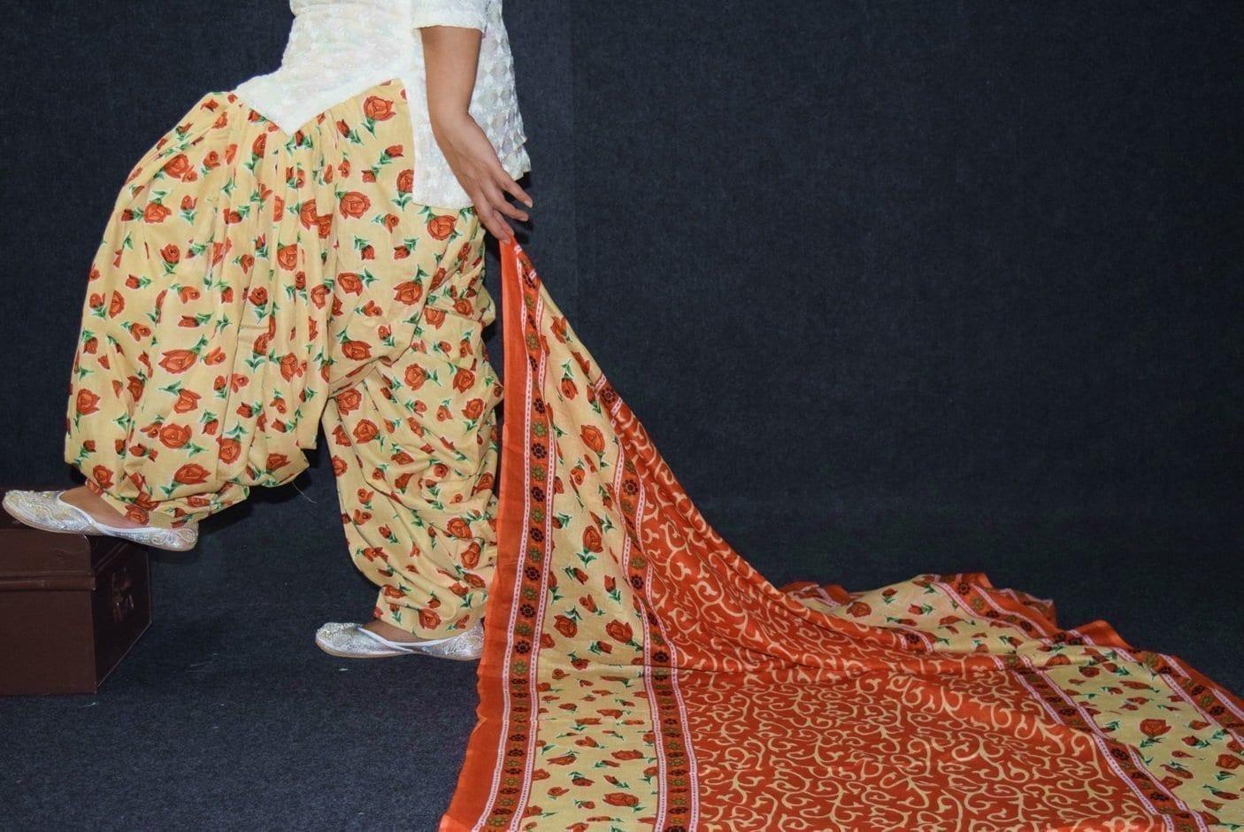 100% Pure Cotton FULL Patiala Salwar + matching cotton printed dupatta PSD188 2