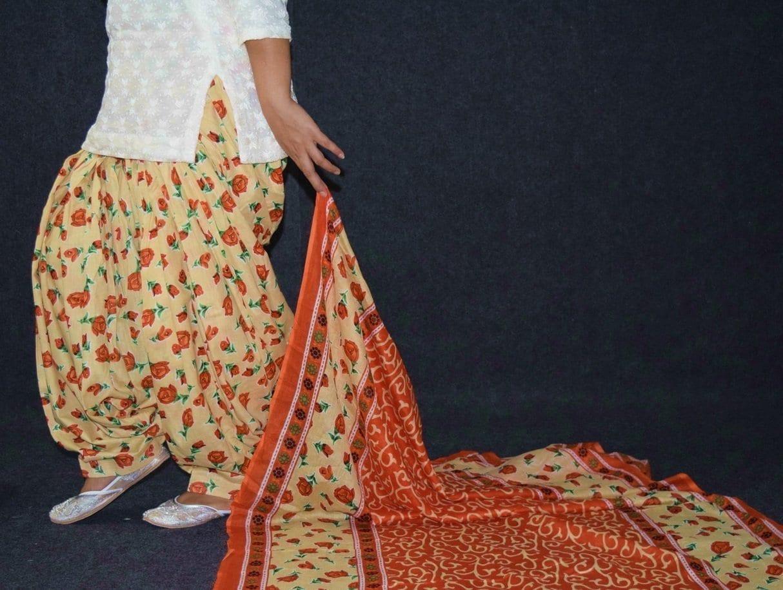 100% Pure Cotton FULL Patiala Salwar + matching cotton printed dupatta PSD188 4