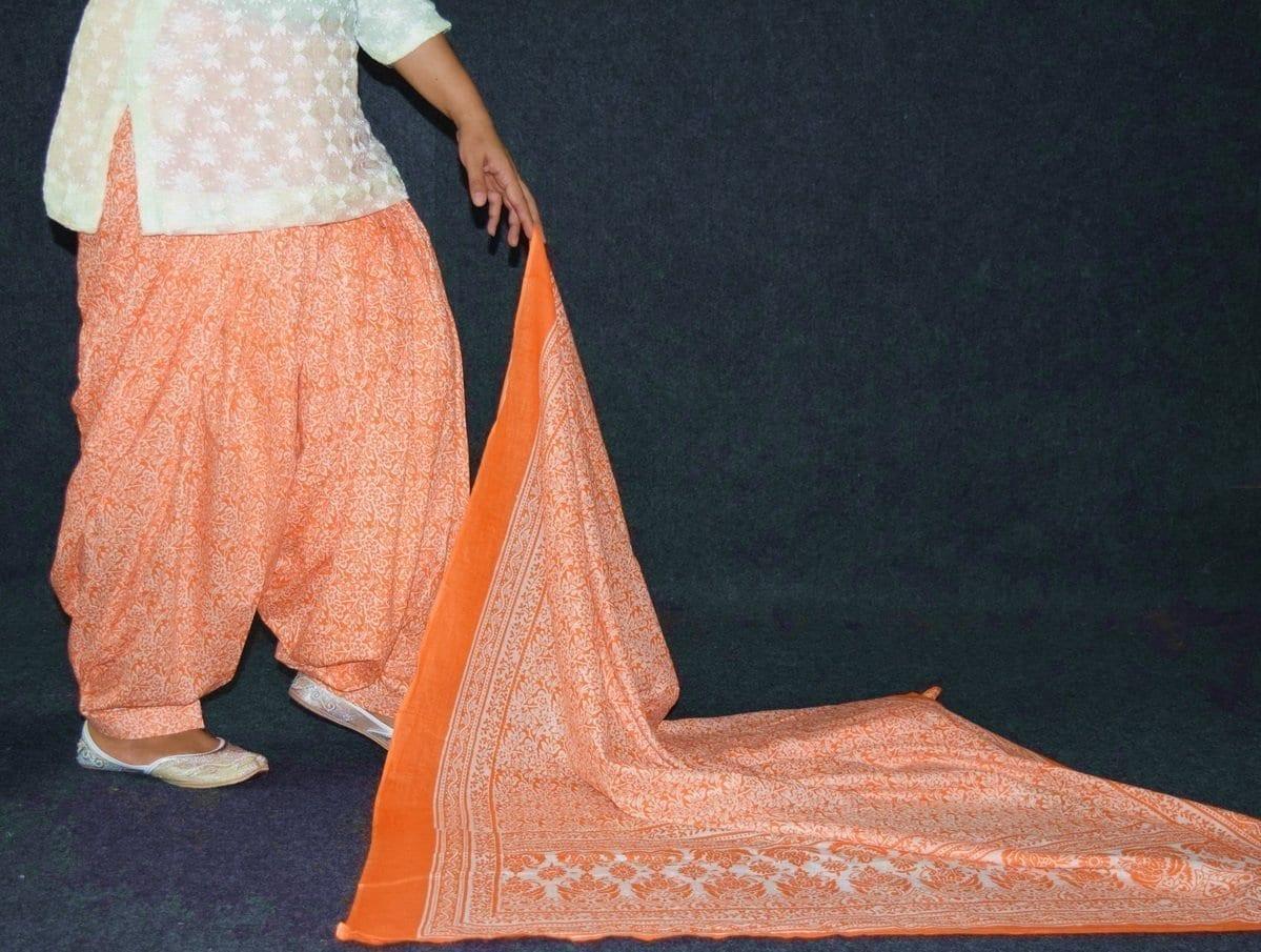 100% Pure Cotton FULL Patiala Salwar + matching cotton printed dupatta PSD191 3