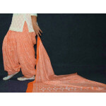 100% Pure Cotton FULL Patiala Salwar + matching cotton printed dupatta PSD191