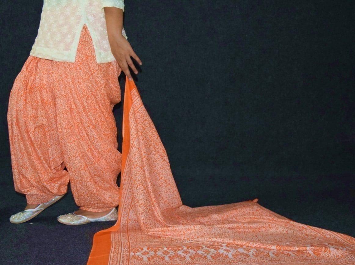 100% Pure Cotton FULL Patiala Salwar + matching cotton printed dupatta PSD191 4