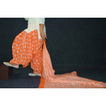 100% Pure Cotton FULL Patiala Salwar + matching cotton printed dupatta PSD192