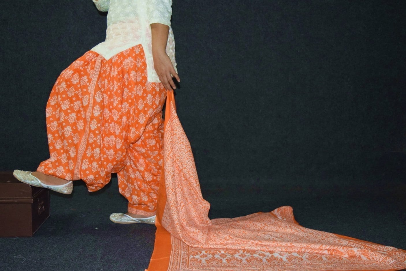100% Pure Cotton FULL Patiala Salwar + matching cotton printed dupatta PSD192 2