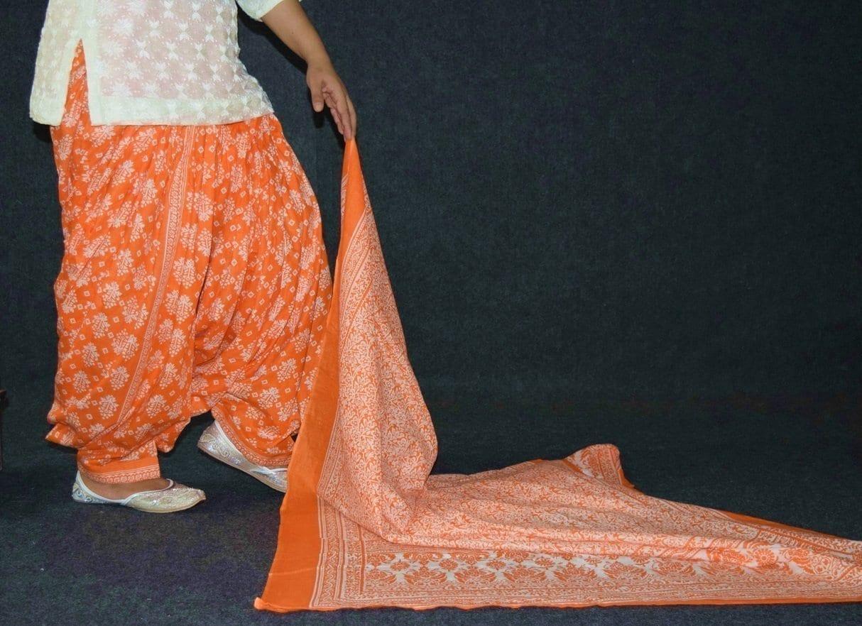 100% Pure Cotton FULL Patiala Salwar + matching cotton printed dupatta PSD192 3