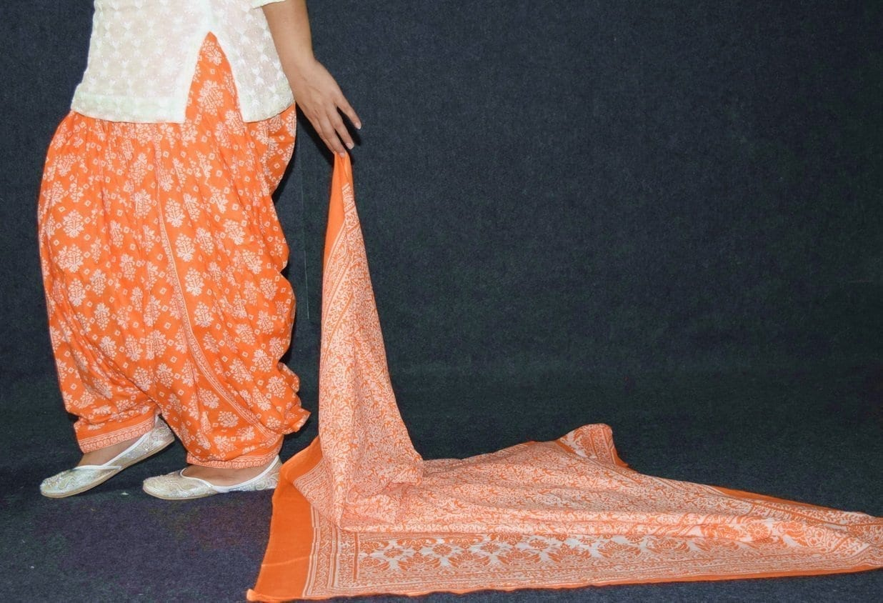 100% Pure Cotton FULL Patiala Salwar + matching cotton printed dupatta PSD192 4