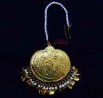 24 Ct. Gold Plated Big Size Traditional Punjabi Tikka Maang Teeka J0182